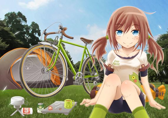 自転車少女 完成
